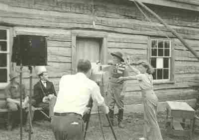 "Still from the filming of ""Talbot of Canada"""